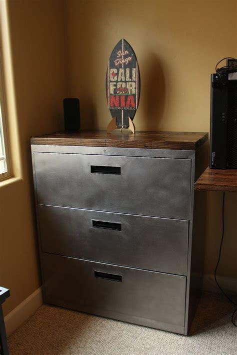 refinished  drawer metal filing cabinet