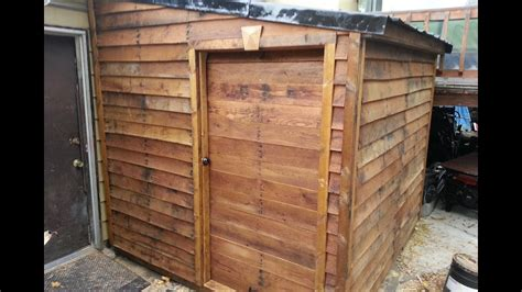 finished pallet shed   materials  youtube
