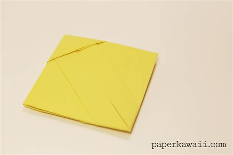 How To Make Origami Letters - origami square letter fold tutorial paper kawaii