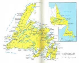 newfoundland map canada