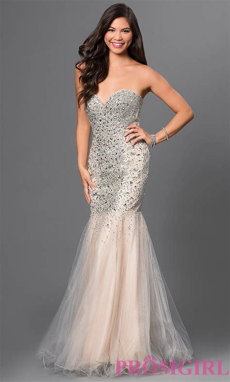 Prom Dresses by Terani Jeweled Strapless Prom Dress