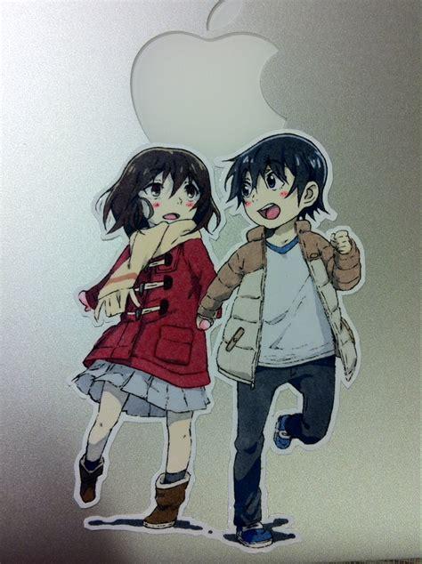 erased anime hinazuki kayo erased anime sticker kayo hinazuki and satoru fujinuma