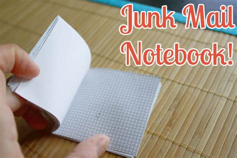 How To Make An Envelope Out Of Notebook Paper - how to make a notepad out of junk mail crafting a green