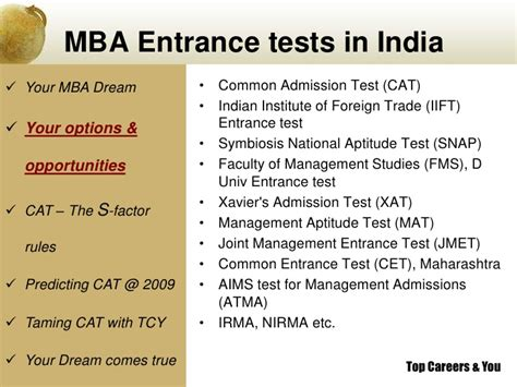 Aptitude Test For Mba Specialization by Cat 2009 With Tcyonline