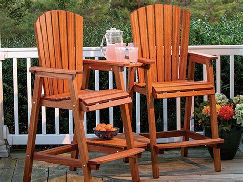 full plan  bar height adirondack chair