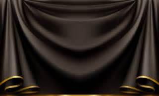 Black Backdrop Curtains Curtain Vector Png Images