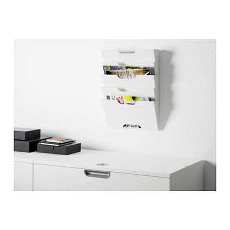 White Wall Magazine Rack by Kvissle Wall Magazine Rack