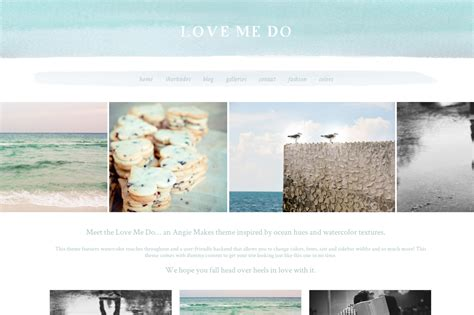 themes in color of water a chic watercolor wordpress theme the love me do