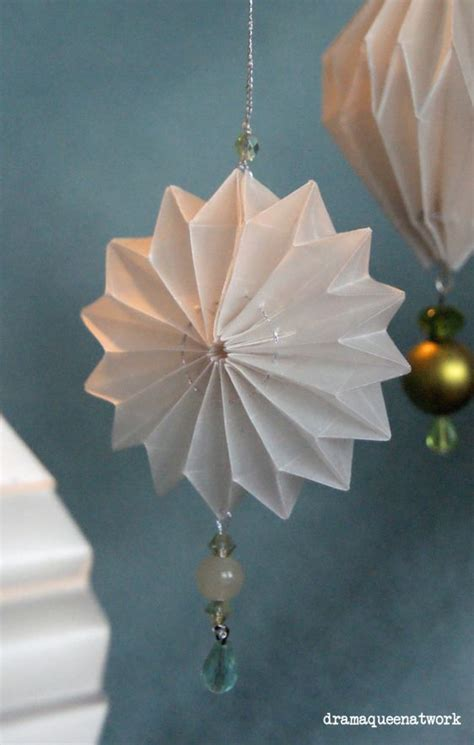 Origami Tree Ornament - papier plissee klappe die zweite origami paper