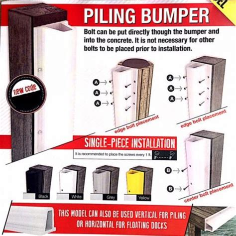 boat dock piling bumpers buy boat dock and piling 10 ft white bumpers motorcycle in