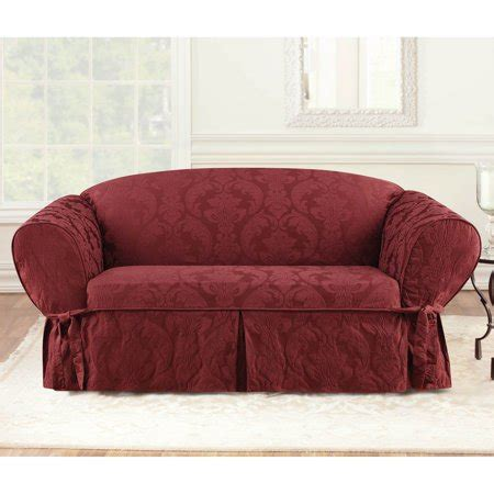 Damask Sofa Slipcover by Sure Fit Matelasse Damask Sofa Slipcover Walmart