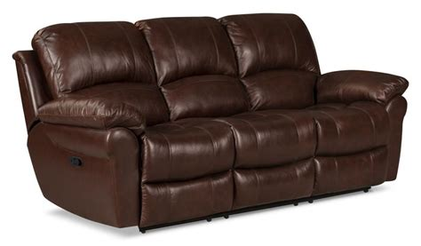 The Brick Leather Sofa by Genuine Leather Reclining Sofa Brown The Brick