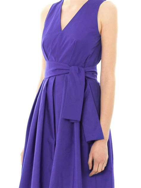 Maxmara Blue 1 lyst max mara letizia dress in blue
