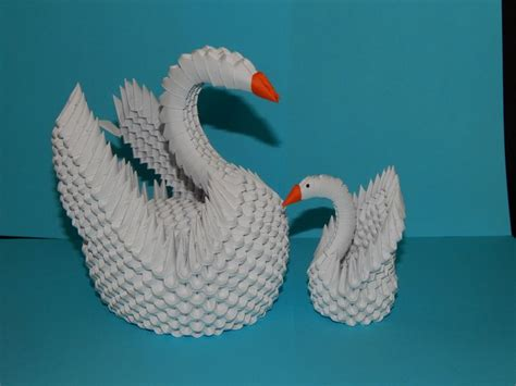 3d Origami Swan Tutorial - 1000 images about my 3d origami collection on