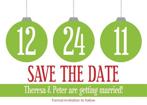 cute christmas themed save the date save the dates