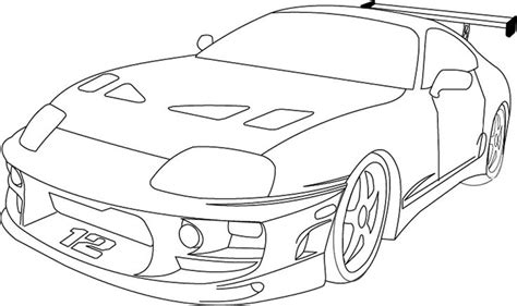 coloring pages of fast cars fast and furious supra by reapergt deviantart com on