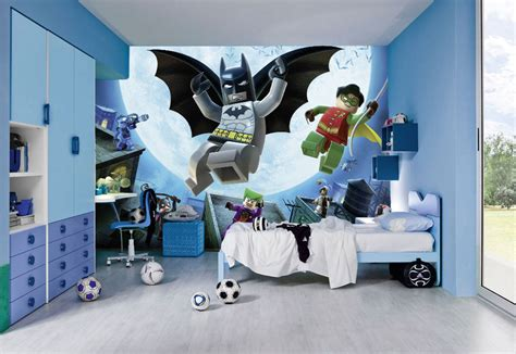 boys batman bedroom lego wall murals