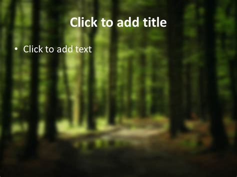 Deep Woods Powerpoint Templates   Slidesbase