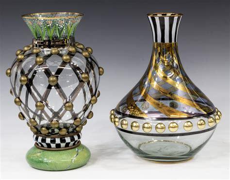 mackenzie childs vase 2 mackenzie childs glass circus vase decanter february estates auction day one