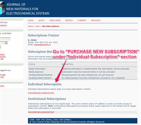 purchase under section 12 institutional subscription journal of new materials for