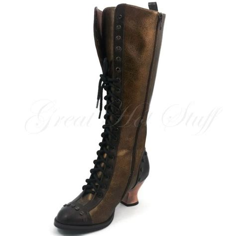 hades womens high heel vintage retro steunk knee boot