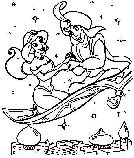 Coloriage Aladdin Les Beaux Dessins De Disney 224 Imprimer