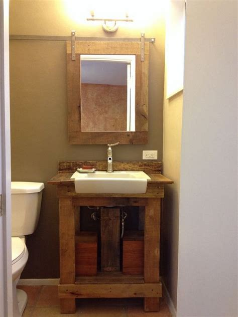 bathroom sink mirror pallet bathroom plans pallets furniture wooden pallets