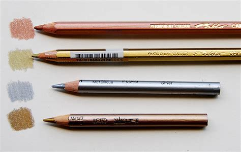 gold color pencil metallic colored pencils the right way to use them