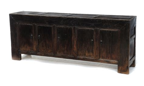 Buffet Console Sideboard large black sideboard buffet media console tv cabinet custom furniture gallery