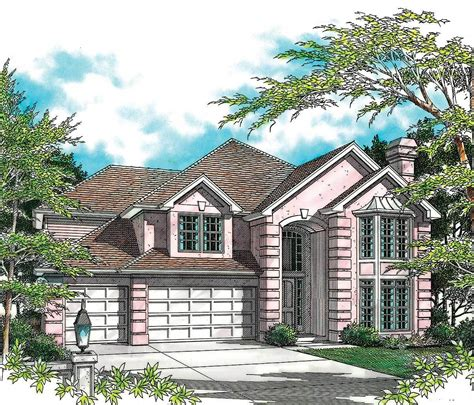 elegant two story with angled garage 6855am the best of traditional style 69063am 2nd floor master