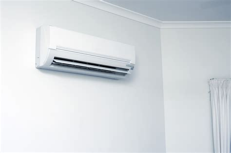 Modern Home Interiors Pictures Free Stock Photo 10659 Domestic Air Conditioner Hanging On