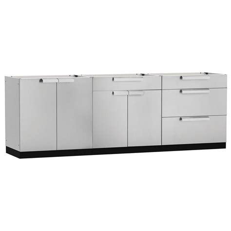 stainless steel cabinets outdoor kitchen cabinet home newage products stainless steel classic 3 piece 120x360x24