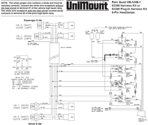 wiring diagram on western unimount plow for dodge ram 3500