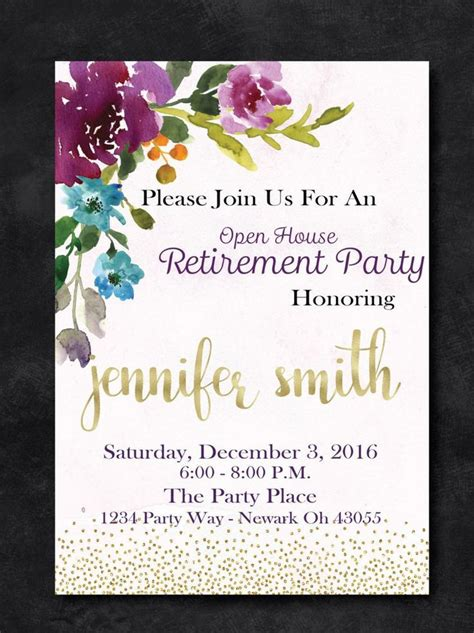 retirement party invitation template free printable archives