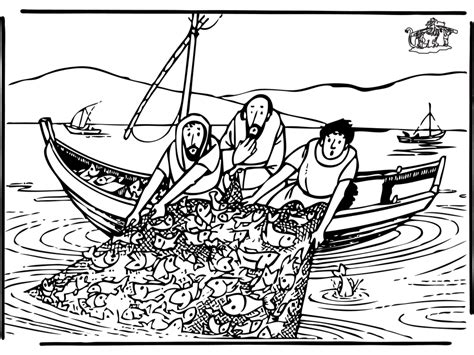 dibujos para colorear de la pesca milagrosa la pesca milagrosa para colorear imagui