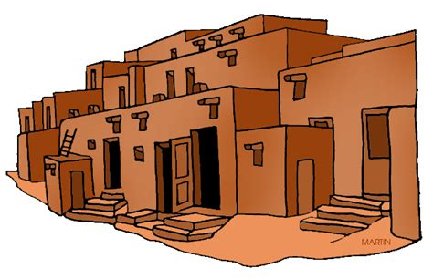 native american houses adobe house clipart clipart suggest