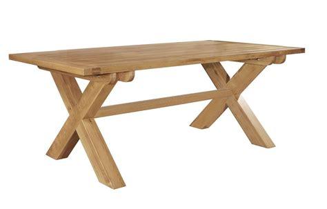 cross leg dining table chiltern grand oak fixed top cross leg dining table 163 553
