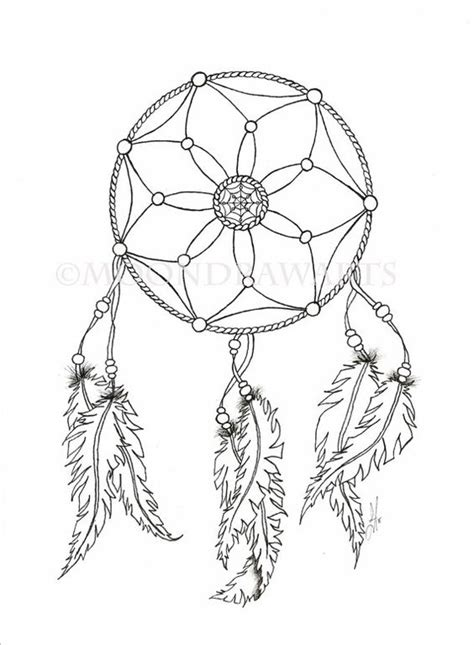 dreamcatcher template catcher printable coloring page by