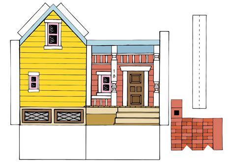 printable house peach bum up house printable template