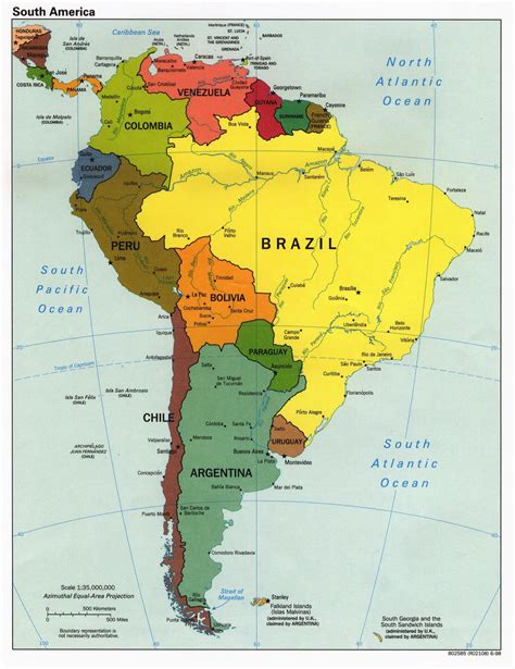 south america map with states and capitals speaking countries and capitals in south america