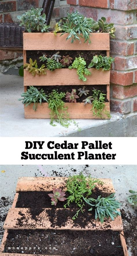 diy succulent planter 19 inspiring diy pallet planter ideas the o jays