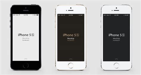 vector iphone 5s mockup templates