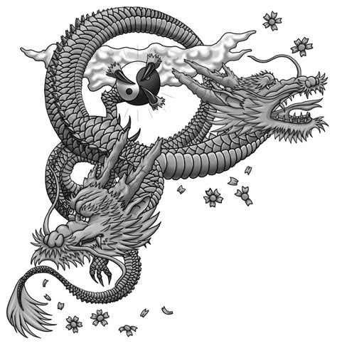 shaded dragon tattoo designs japanese wip shaded by almwitch on deviantart