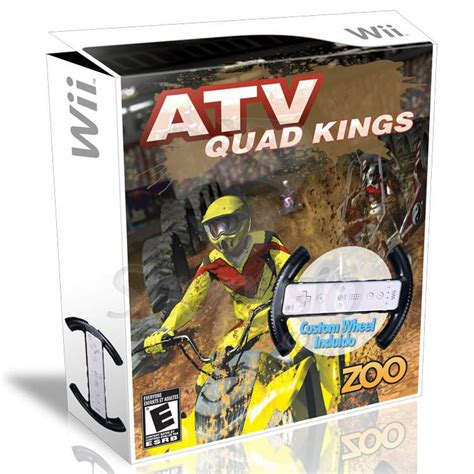 Wii Gift Card Holder - atv quad kings video game wii with steering holder for controller gamesplus