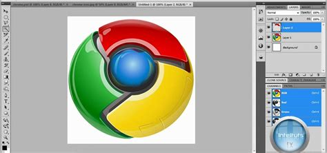tutorial making logo using photoshop how to make a professional google chrome logo in photoshop