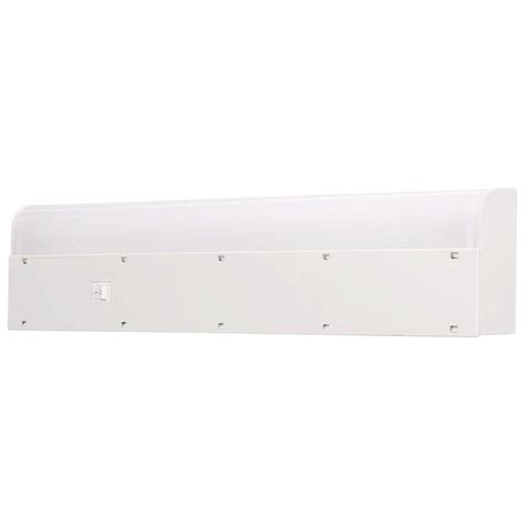 18 Fluorescent Light Fixture Ge 18 In Fluorescent Light Fixture 16466 The Home Depot