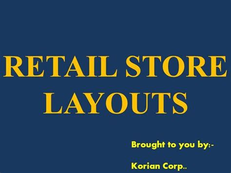 retail store layout design ppt retail store formats store layouts authorstream