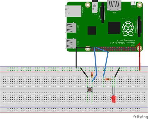button interface  raspberry pi circuit diagram