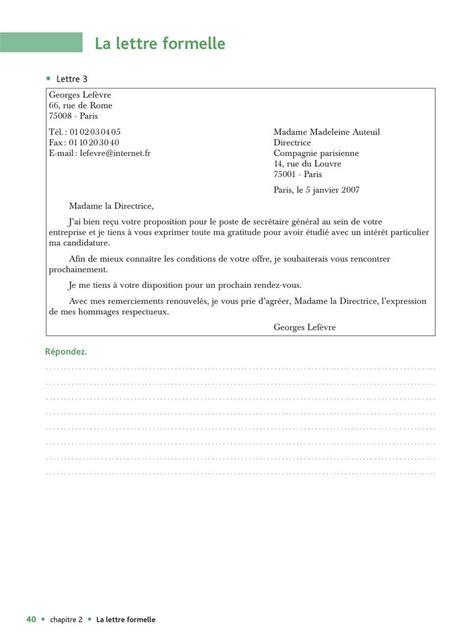 Exemple De Lettre Formelle Fran 231 Ais Comme Une Vache Espagnole Exemple D Une Lettre Formelle