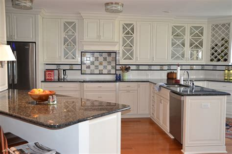 Kitchens With Granite Countertops White Cabinets Beautiful White Kitchen Cabinets With Granite Countertops Mykitcheninterior